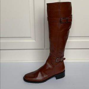 SESTO MEUCCI Brown Knee High Leather Boots